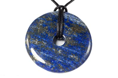 Chinese Lapis Lazuli Donut Pendant 4 cm otbipCRqPD
