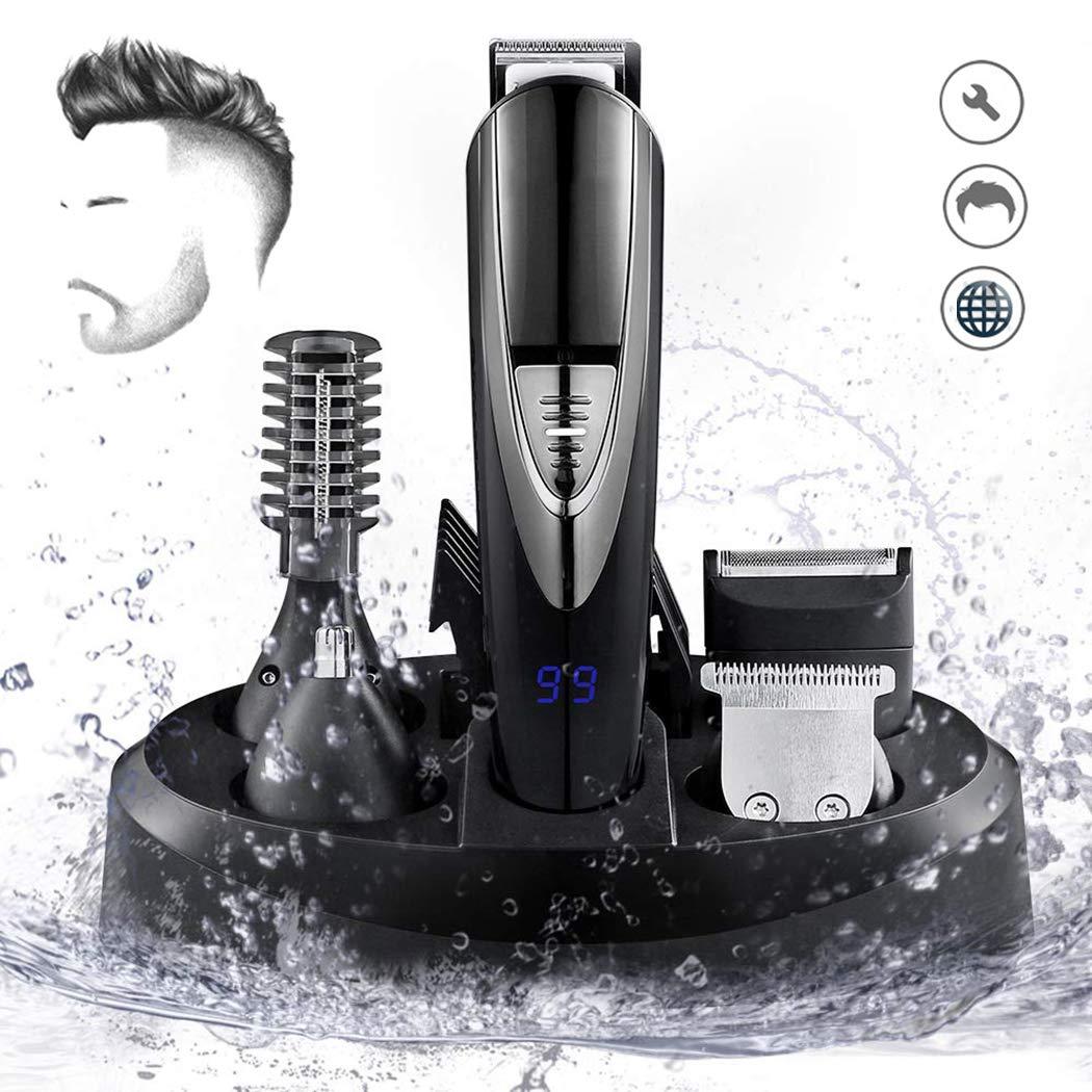 Recortador de pelo y afeitadora, recargable e impermeable ...