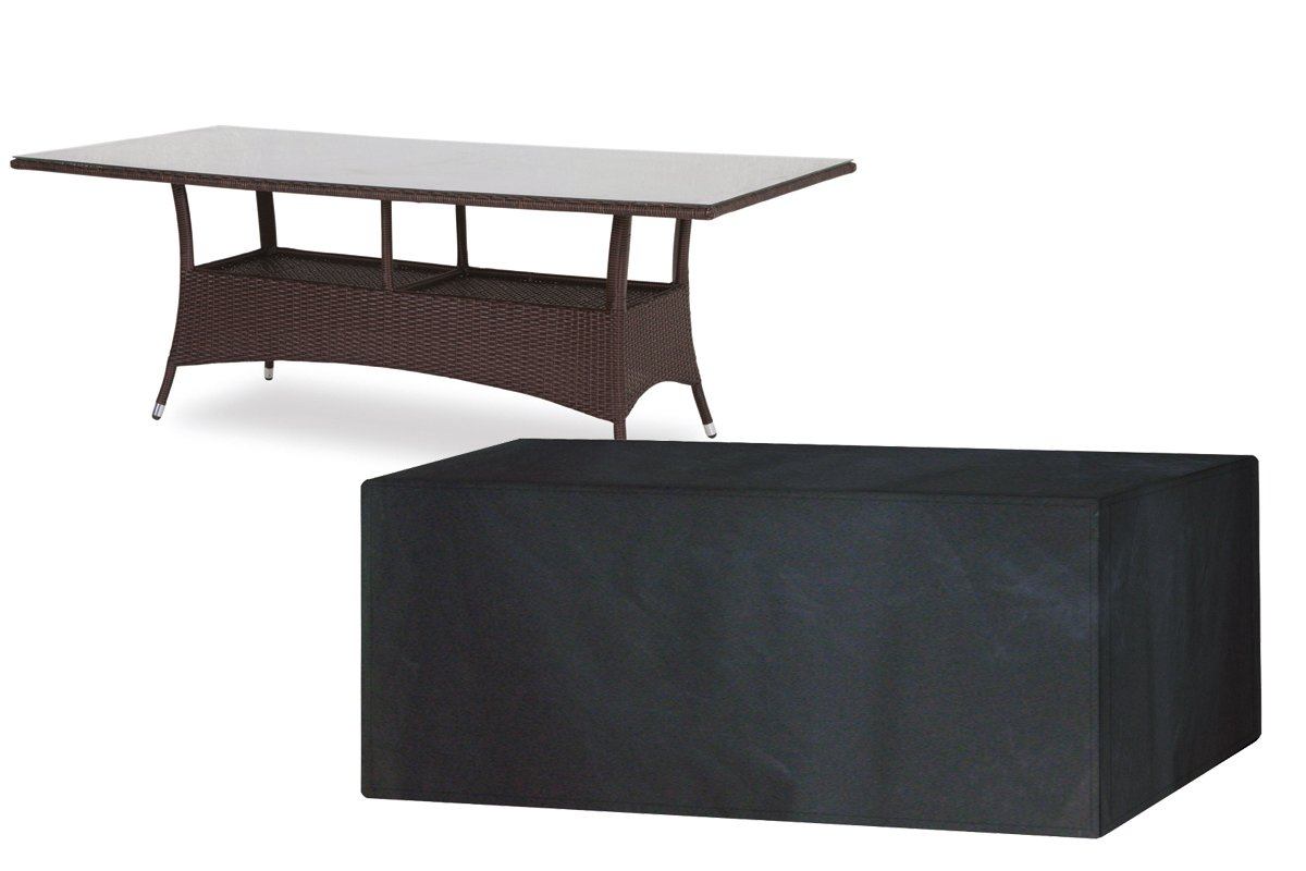 (W1380-Garland) Protection Cover For 8 Seater Rectangular Table ~ high quality PVC backed polyester Worth Gardening by Garland