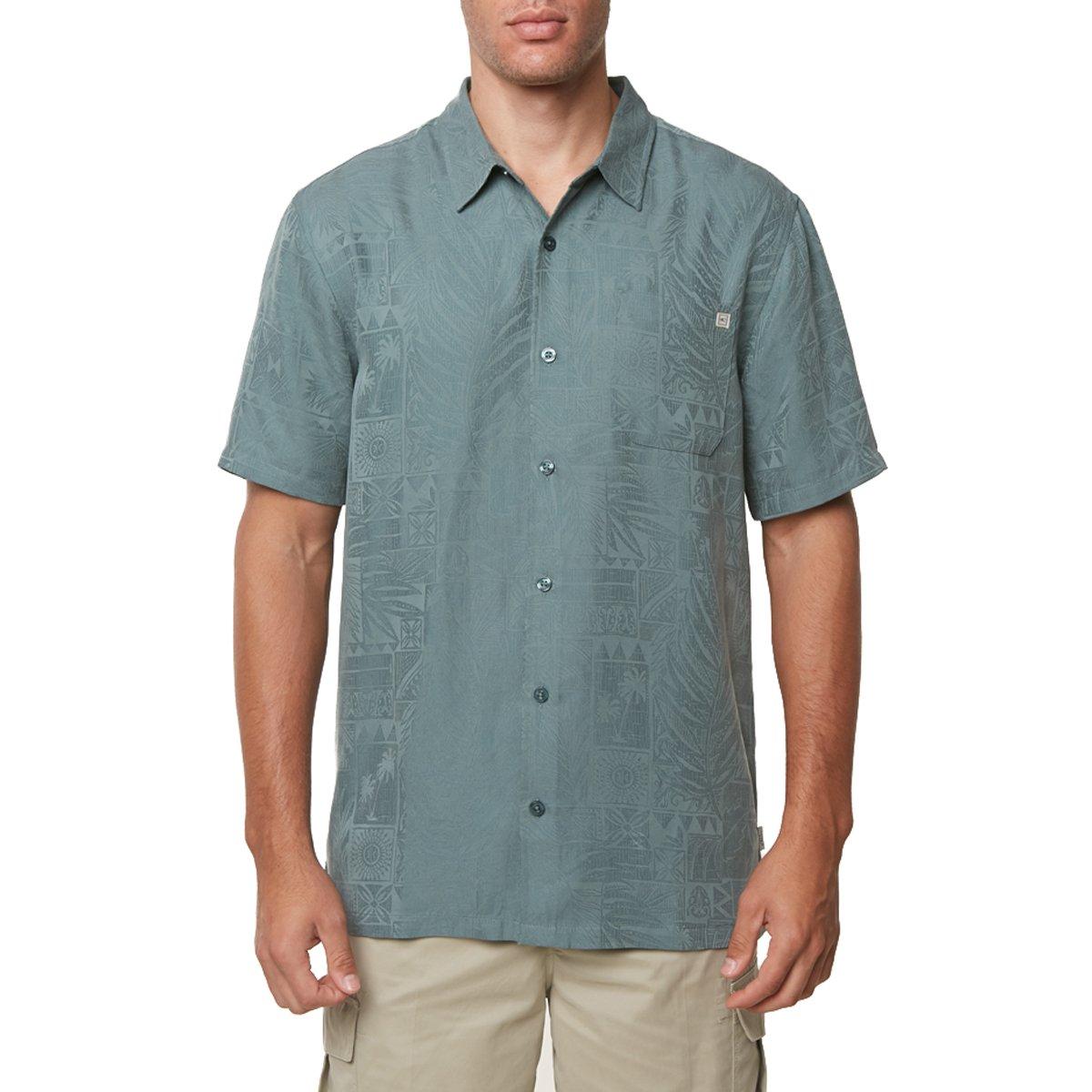 O'Neill Men's Island Life Shirts,Medium,Dark Sea Glass