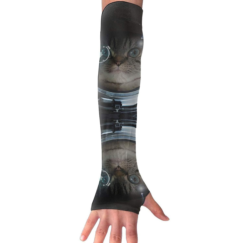 Unisex Astronaut Cat Sense Ice Outdoor Travel Arm Warmer Long Sleeves Glove