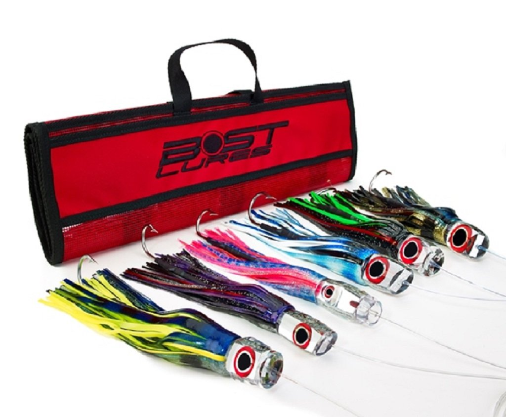 Mirrored Marlin Lure Pack by Bost - Rigged w/Double Hooks by Bost Lures