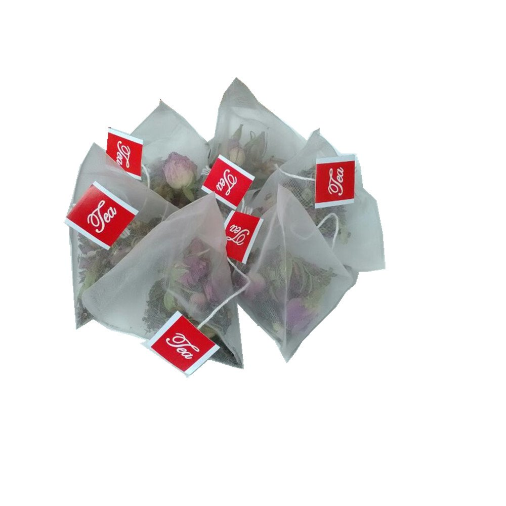 Lucklovely Empty Heat Sealing Nylon Pyramid Tea Filter Bags for Loose Tea (1000)
