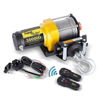 Amazon.com: RUGCEL Cabrestante eléctrico de 12 V para ATV y ...