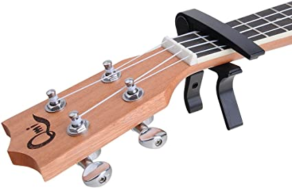 Liroyal Electric Acoustic Guitar Quick Change Single-handed Tune Trigger Capo,Red