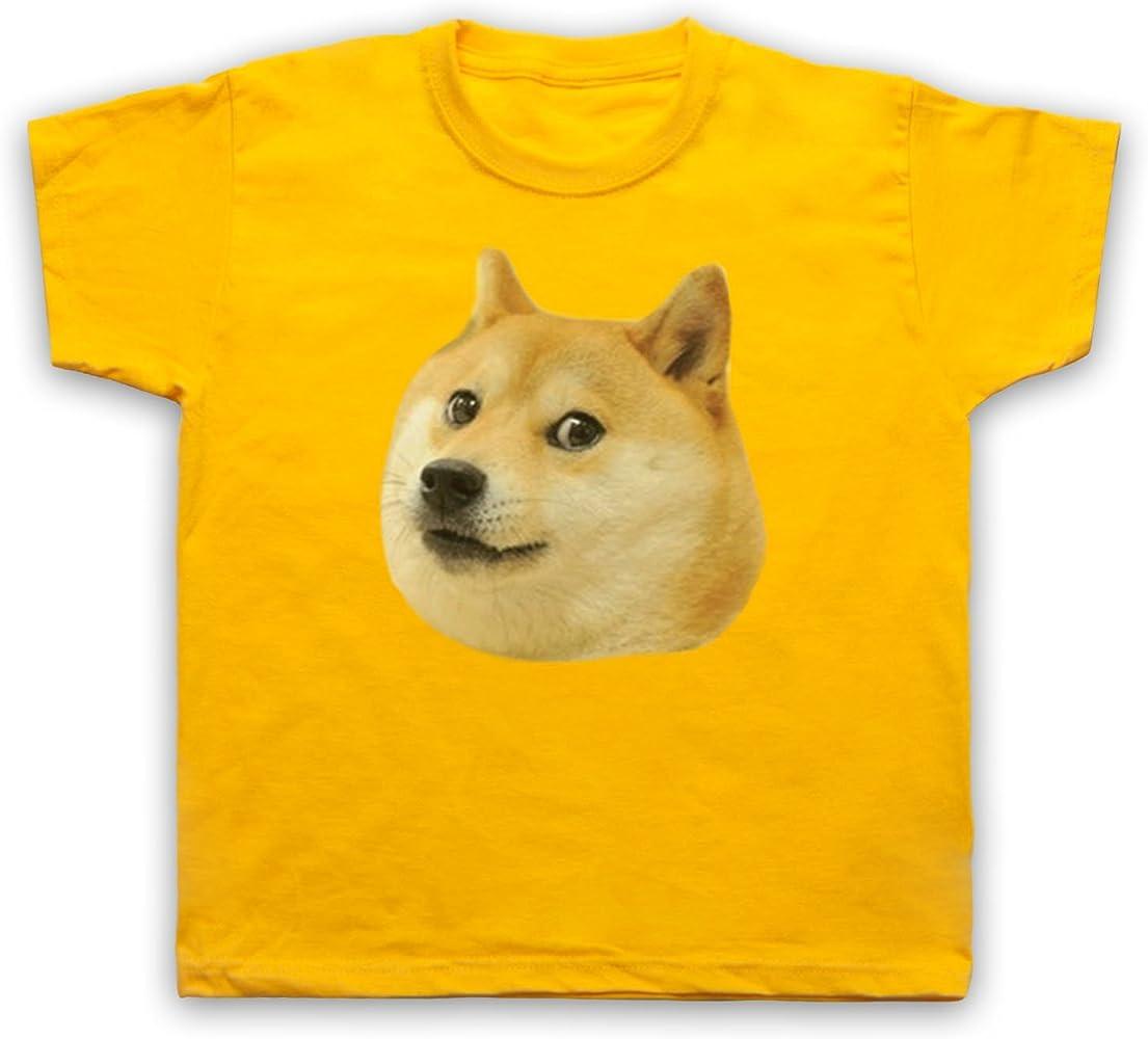 Doge Head Meme Camiseta para Niños, Amarillo, 1-2 Años: Amazon.es: Ropa y accesorios