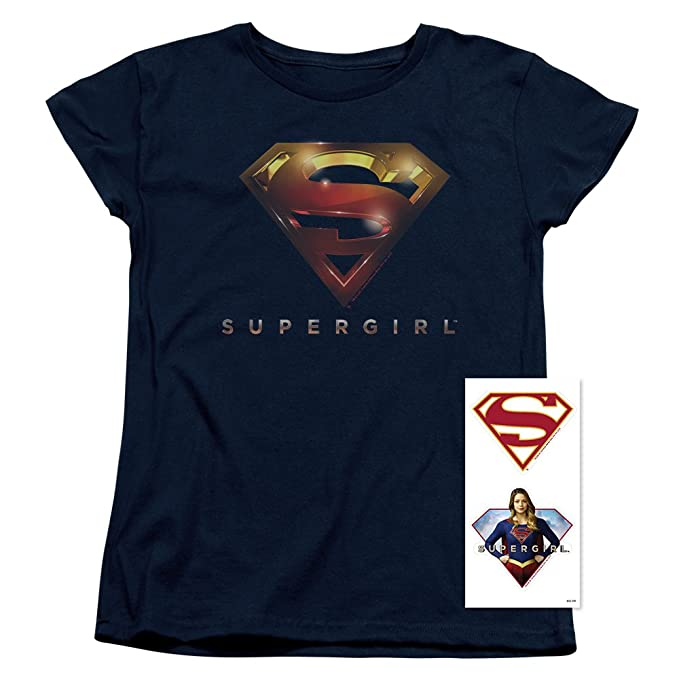 5102f3b96ce0c Amazon.com  Supergirl Womens T Shirt and Stickers - TV Series  Clothing