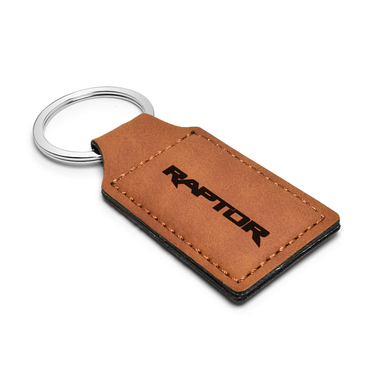 Ford Rectangular Brown Leather Key Chain F-150 Raptor 2017 to 2019 iPick Image
