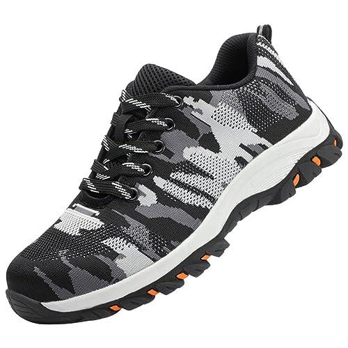 Trabajo Zapatos Zapatillas De Seguridad para Hombre con Tapa Acero Industria Calzado Deportiva Antideslizante: Amazon.es: Zapatos y complementos