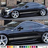 subaru brz grille - 2x Decal Sticker Vinyl Side Racing Stripes Compatible with Toyota GT/FT86, Subaru BRZ, Scion FR-S