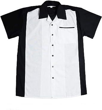 Rockabilly Bowling Shirts - Camisa casual - Manga corta - para hombre negro XXL: Amazon.es: Ropa y accesorios