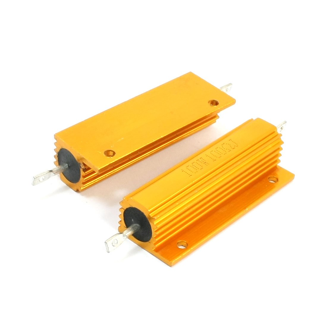 Uxcell a14012100ux0143 2 Piece Chassis Mounted Aluminum Casing Housed Clad Resistors, 100W 100Ohm by uxcell