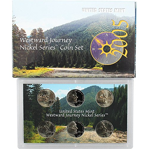 - 2005 PDS Westward Journey Nickel Series Coin Set in Original Box with COA Nickel Proof and Uncirculated US Mint