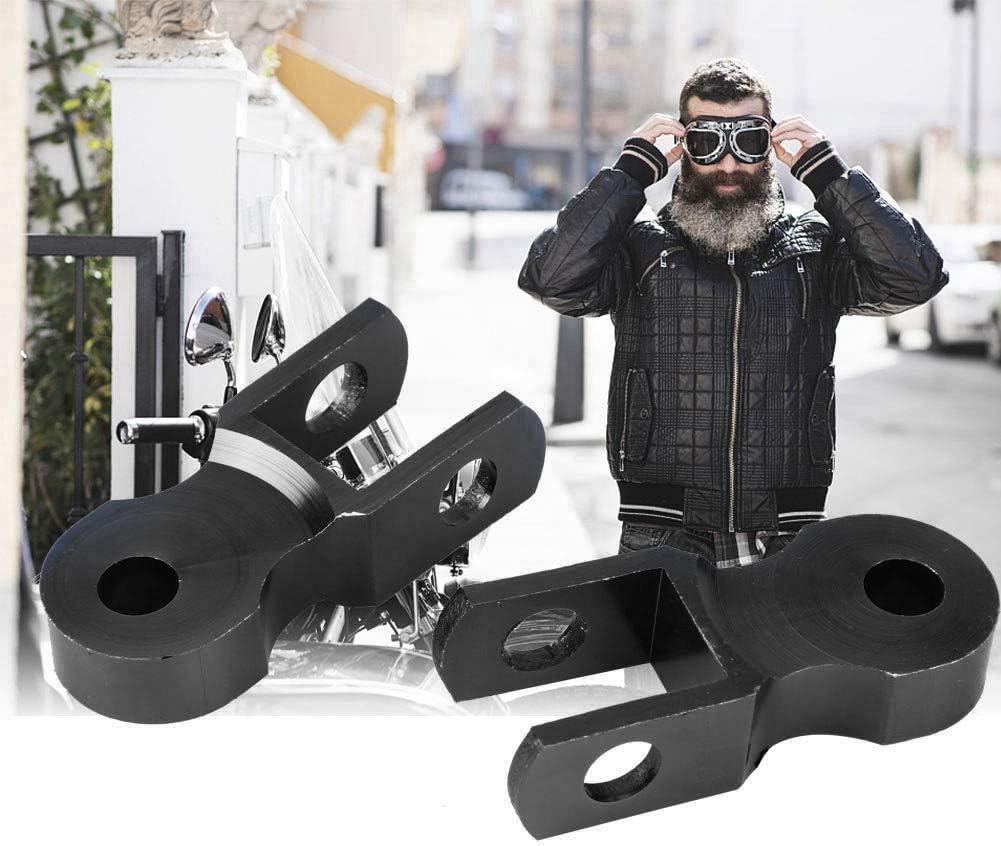 Negro Aleaci/ón de Aluminio EBTOOLS Almohadilla de Dispositivo de Aumento de 5 cm de Elevaci/ón de Amortiguador Trasero de Motocicleta para Chasis Con tornillos
