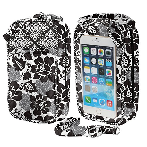 Crossbody Bag-Cell Phone Purse-Sadie Quilt- Fits all phones-by Charm14 ()