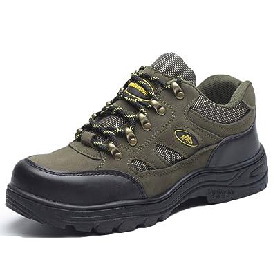 nihiug Wandern Schuhe Männer Wasserdicht Schwarz Leichte