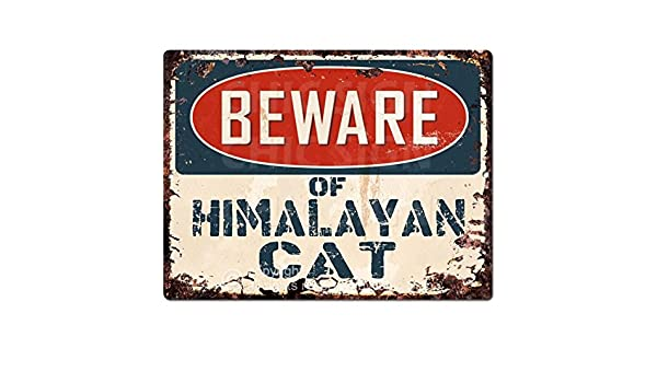 PP1548 Beware of HIMALAYAN CAT Plate Rustic Chic Sign Home Room Store Decor Gift