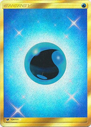 Pokemon Water Energy - 124/111 - Secret Rare - Sun & Moon: Crimson Invasion