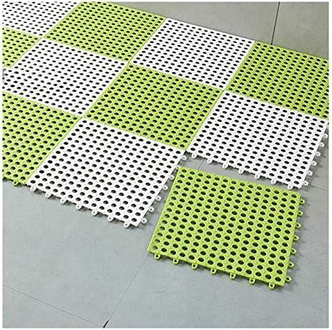 GHHQQZ バスルームラグ スプライス 丈夫 滑り止め フットパッド キッチン シャワー室 バスルームのカーペット、厚さ1 cm、30x30cm (Color : D, Size : 24pcs)