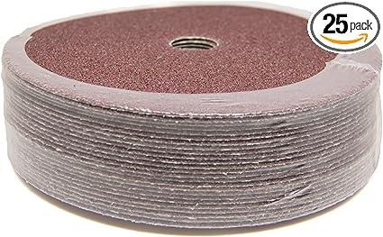 5 x 7//8 24 Grit Resin Fiber Sanding Disc Aluminum Oxide 100//Pack