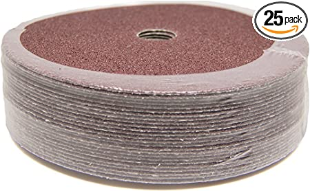 "25 Pack 7/"" Ceramic Resin Fiber Disc 36 Grit 7 inch Grinding /& Sanding Discs"