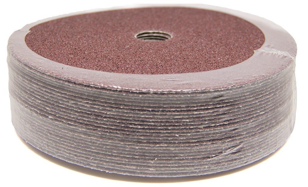 """7"""" x 7/8"""" 36 Grit Aluminum Oxide Resin Fiber Grinding & Sanding Discs - 25 Pack 61SPakjS3-L"""