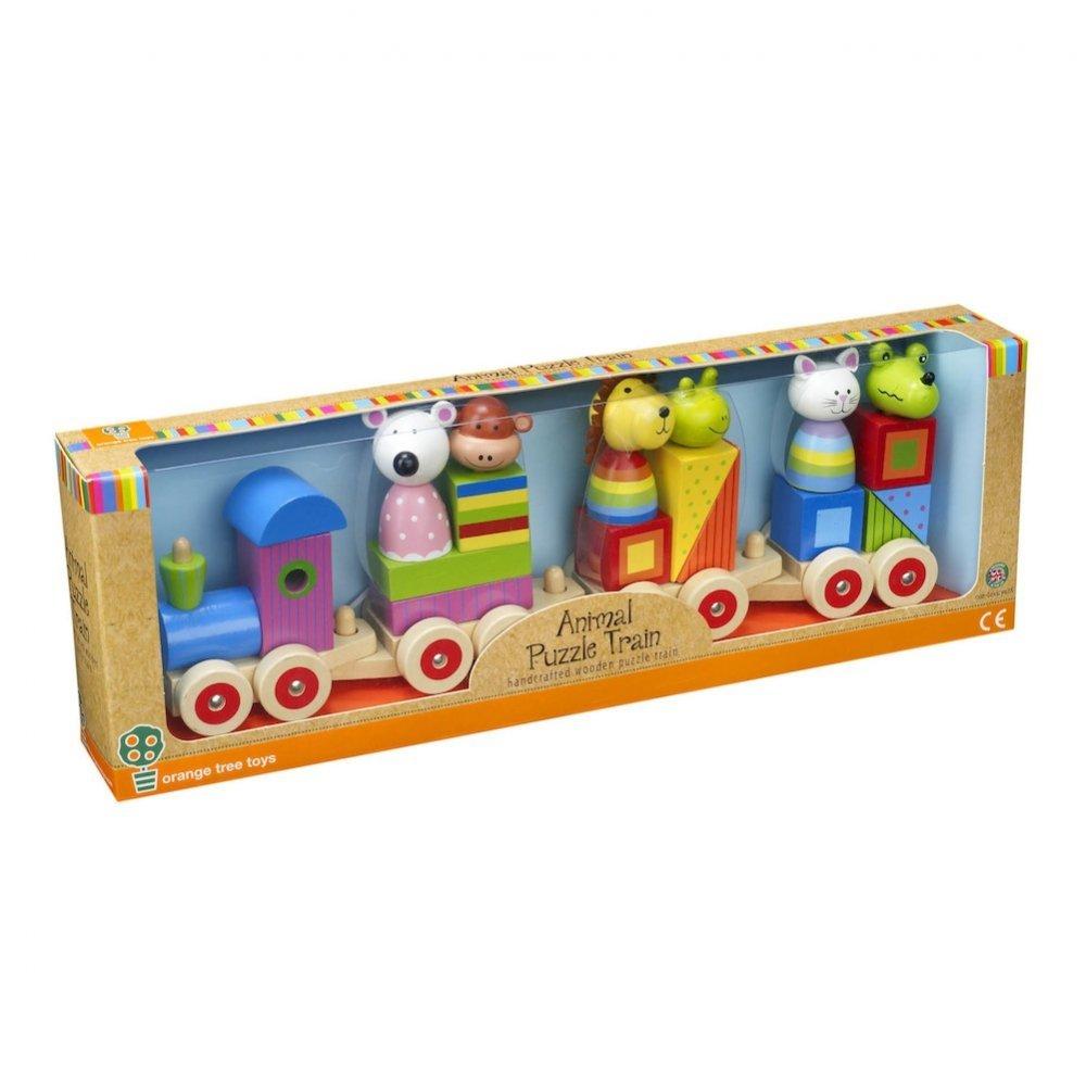 orange tree toys animal puzzle train amazon co uk toys u0026 games