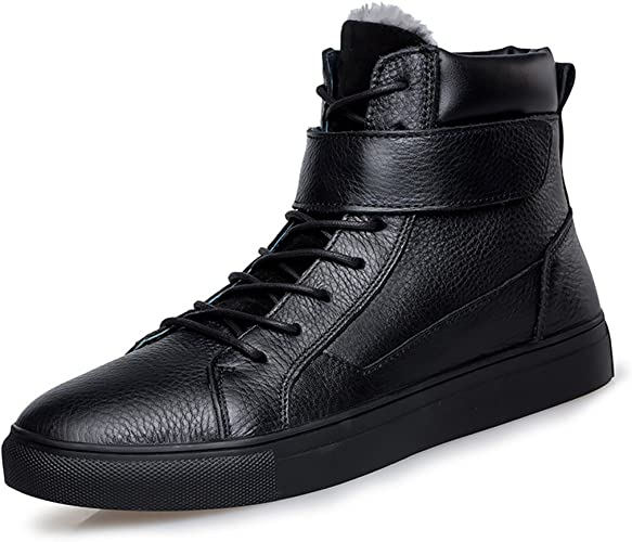 Top Fur Lined Casual Leather Sneakers