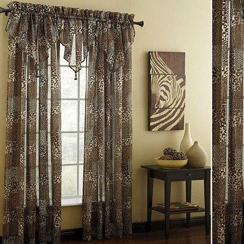 Chapel Hill by Croscill Animal Attraction Sheer Panel, 84-Inch