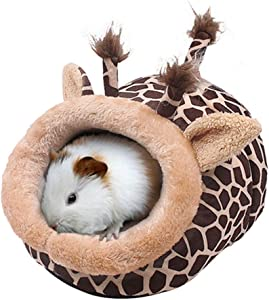 JanYoo Chinchilla Hedgehog Guinea Pig Bed Accessories Cage Toys Bearded Dragon House Hamster Supplies Habitat Ferret Rat