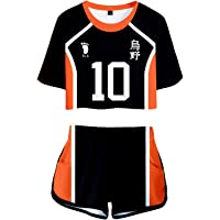 Cosplaysky Girls Haikyu High School Volleyball Uniform Anime Cosplay Costume Sports T-Shirt Tops Shorts Suit