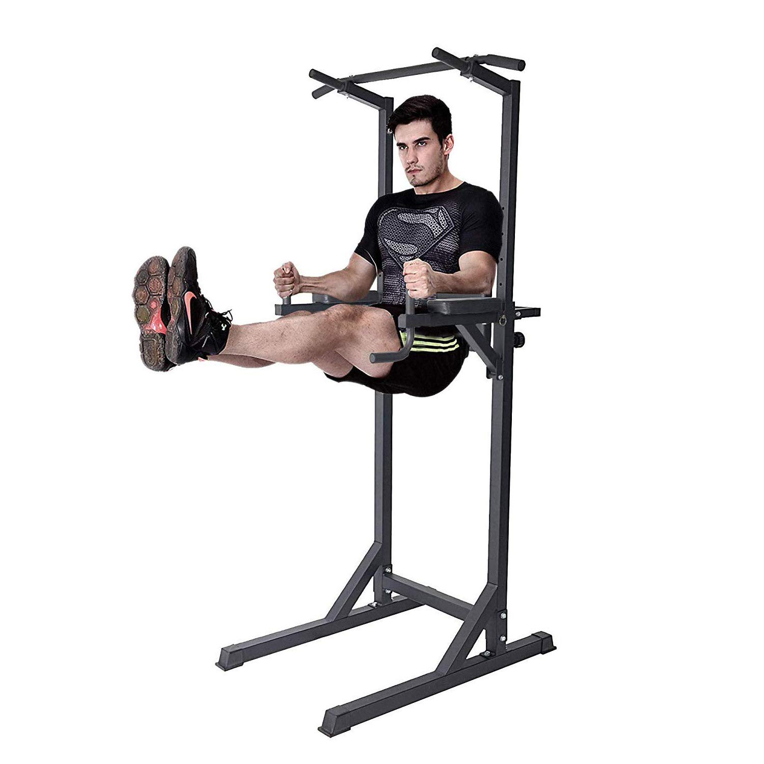 Dporticus Power Tower Workout Dip Station Multi-Function Home Gym Strength Training Fitness Equipment