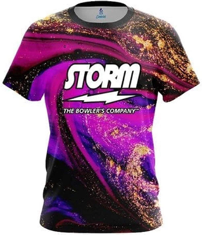 CoolWick Storm Electrical Tornado Purple Quick Ship Sash Zip Bowling Jersey