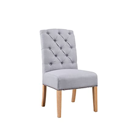 Remarkable Amazon Com Abbyson Verona Linen Parsons Dining Chair Light Ncnpc Chair Design For Home Ncnpcorg