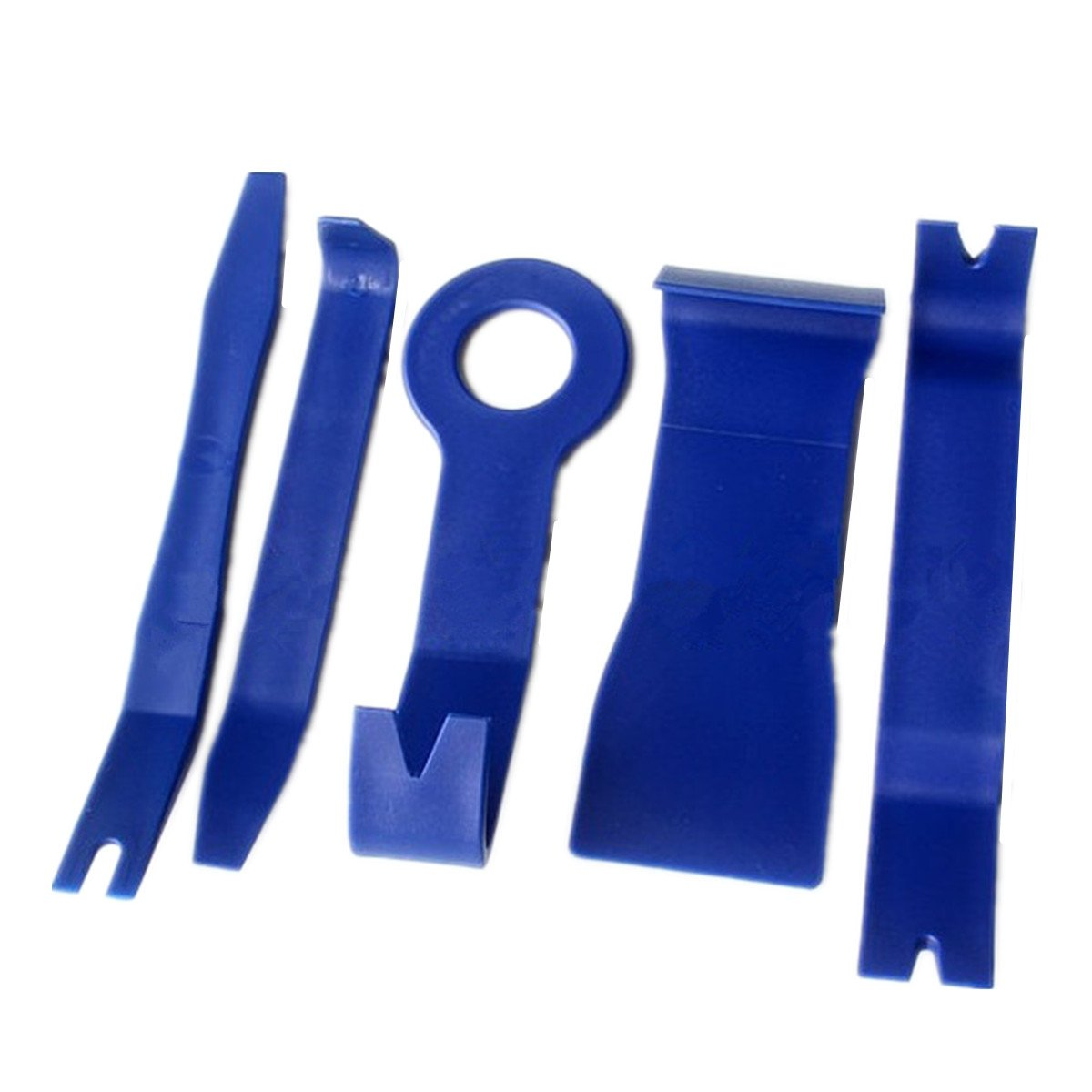 BININBOX Auto Door Clip Panel Trim Removal Tool Set Kits For Car Interior Dash Radio Audio Installer Pry Tool Portable Blue (2 Sets)