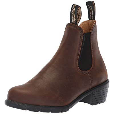 Blundstone Women's Heeled Boot Antique Brown 8 | Ankle & Bootie