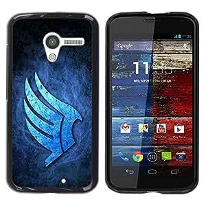 Be Good Phone Accessory // Dura Cáscara cubierta Protectora Caso Carcasa Funda de Protección para Motorola Moto X 1 1st GEN I XT1058 XT1053 XT1052 XT1056 XT1060 XT1055 // Blue Wings