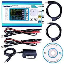Kuman 20MHz High Precision DDS Arbitrary Waveform Generator with 2.4'' TFT Digital Dual-channel 200MSa/s ,100MHz Frequency Meter Signal Generator FY2300