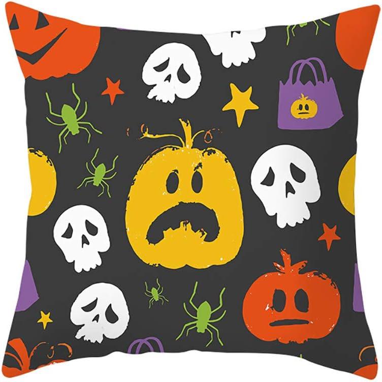 Fashion Vintage Halloween Pillowcase Cushion Case Home Decoration Microfiber Cushion Cover huijdew Pillow Case Cushion Covers 18x18inch