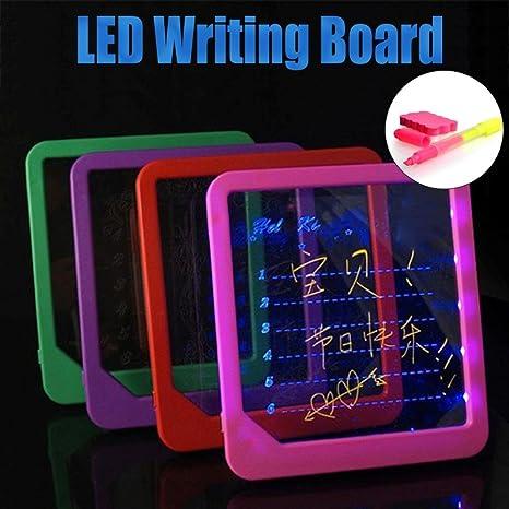hunpta - Pizarra de acrílico con luz LED para Dibujo, Escribir ...