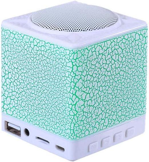DGYAN El Mini Altavoz Bluetooth inalámbrico portátil del Altavoz de Bluetooth apoya Las Luces del USB de la música y del teléfono Elegante: Amazon.es: Jardín