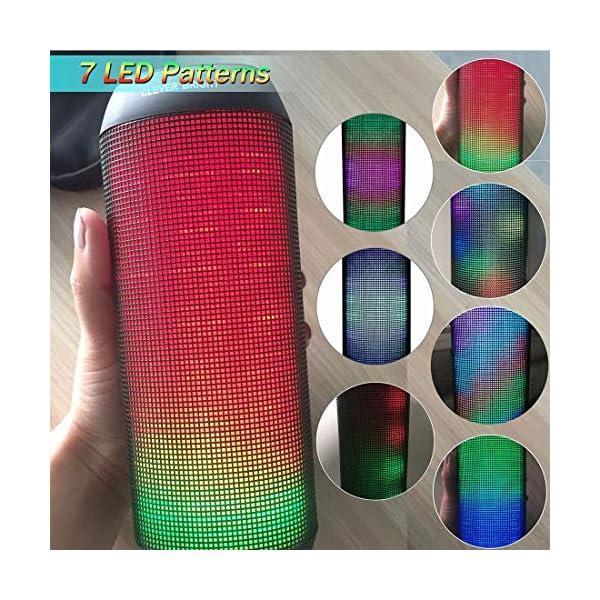 Enceinte Bluetooth Portable Lumineuse Haut-Parleur Bluetooth sans Fil avec LED Lumière Radio, Technologie TWS,2000mAh Autonomie 8-10H,Idéal la Maison, Camping,l'extérieur Les Voyages 4