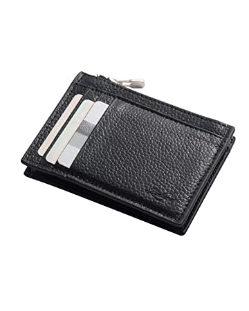 2a5268b587250 Zodaca Genuine Leather Mini Coin Change Purse w Card Slot   Zip ...