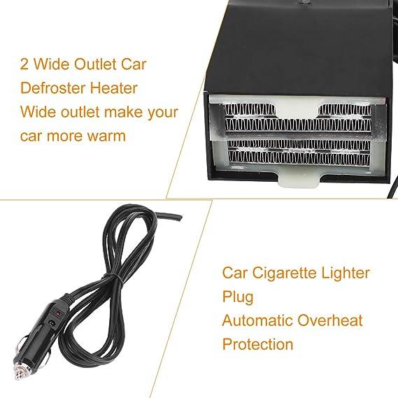 Amazon.com: Keenso Portable Car Heater, Fast Heating Defrost Defogger 12V Adjustable Cigarette LighterCooling Fan 2 Wide Outlet Plug in Cigarette Lighter: ...
