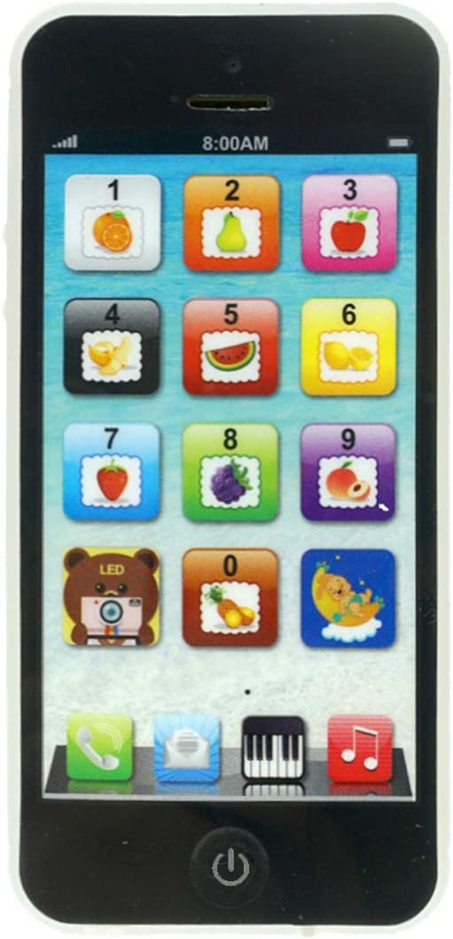 Durherm YPhone Toy Play Cell Phone USB Rechargeable