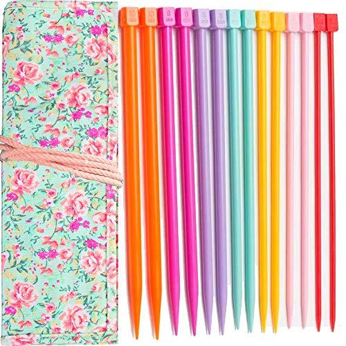 Plastic Knitting Needles Set Knitting Needle Case Knitting Kits for Beginners+❤️durable cloth knitting ()