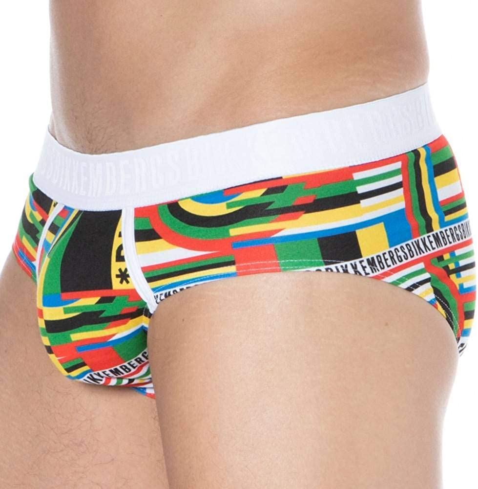 Bikkembergs Slip Mutanda Intimo Uomo Underwear Olympic Print Articolo VBKT04842