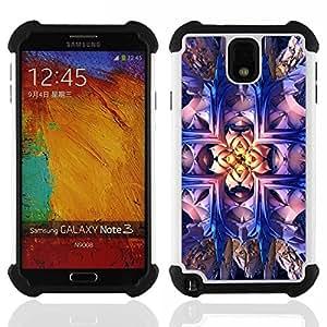 For Samsung Galaxy Note3 N9000 N9008V N9009 - Wallpaper Magical Art Bling Drawing Bright /[Hybrid 3 en 1 Impacto resistente a prueba de golpes de protecci????n] de silicona y pl????stico Def/ - Super Mar