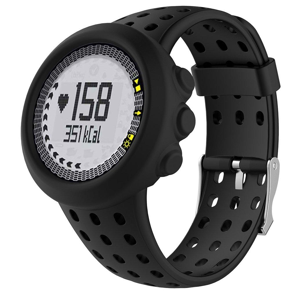 KESOTO Funda Protectora Cubierta de Silicona Smartwatch para Reloj Suunto Inteligente - Negro