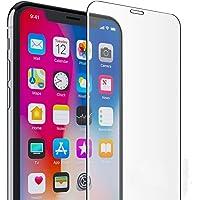 提亚TIYA 苹果Xs钢化膜 1片装 iPhone X 透明玻璃防爆贴膜 耐用防划保护膜 9H硬度 2.5D弧度圆边设计 附带透明手机壳碳纤维后膜 适用于Apple 10 10s Xs (iPhone Xs, 透明膜x1)
